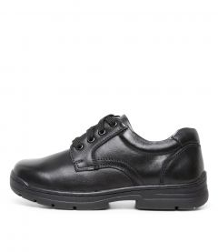 C-CASTOR JNR BLK LEATHER