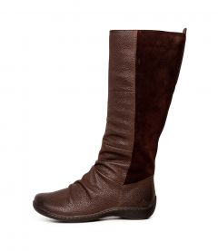 HASWELL CF DK BROWN LEATHER SUEDE
