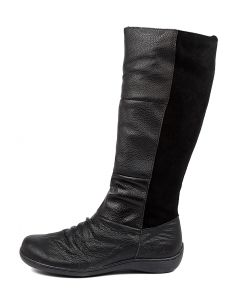 HASWELL CF BLACK LEATHER SUEDE